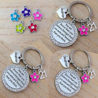 BIRTHDAY Gifts Charm Keyring For Mum Auntie Daughter Sister Friend Gift For Her • 4.49£