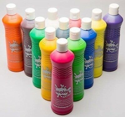 £39.99 • Buy Ready Mix Childrens Poster Paint Wheat And Gluten Free Washable Paints New