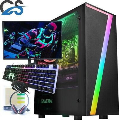 Fast Gaming PC Computer Bundle Quad Core I7 16GB 1TB Windows 10 Nvidia GTX1650 • 479.99£