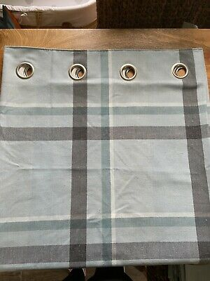 Curtains From Next 53 X 90 Inches - Blue Check  Excellent Condition • 4.99£