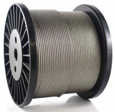 4, 6, 8mm Galvanised Steel Clear PVC Plastic Coated Wire Rope • 1.99£