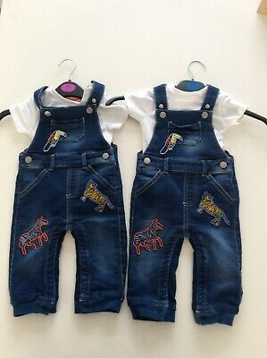 Baby Dungarees, With Animal Print, Xs X2 • 1.69£