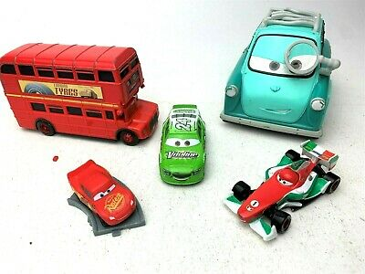 $ CDN23.41 • Buy Disney Pixar Cars Diecast LOT UK Double Decker Bus, 3 Brick Yardley, Francesco