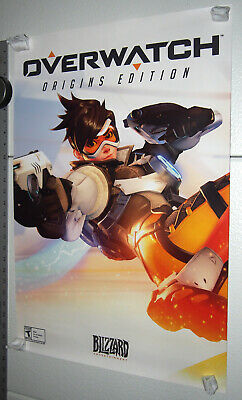 AU57.88 • Buy Overwatch Poster Video Game Art Original Print 27 X 18 Double Sided Tracer/Hanzo