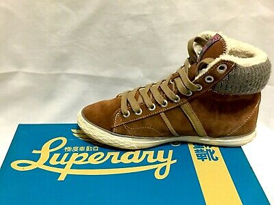 SUPERDRY Womens Hammer High Boots, Size UK4, Colour: Tabacco, Perfect Condition • 45£