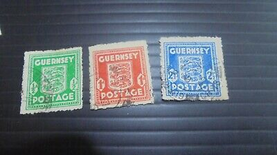 Guernsey 1941 Sg 1-3 Definitives  Used  (z) • 1.99£