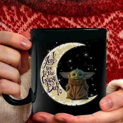$7.99 • Buy Baby Yoda I Love You To The Moon And Back Black Mug 11oz 15oz Cup Of Tea Gift