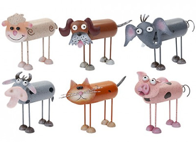 Wobbly Metal Novelty Animals With Legs Garden Ornaments - Home & Garden -  New • 8.99£