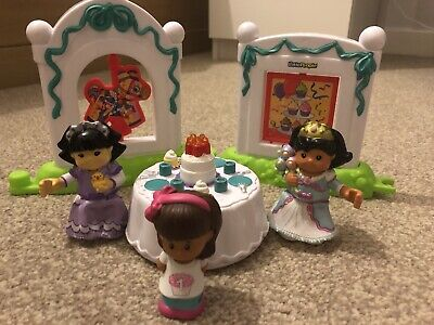 Fisher Price Little People Birthday Party Toy Play Set Cake Table • 2.30£