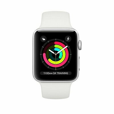 $ CDN152.45 • Buy Apple Watch 3 Series (GPS) 38mm Silver Aluminum Case With White Sport Band