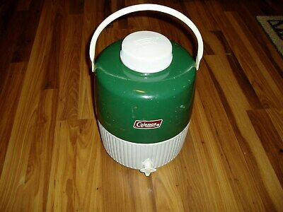 $32.99 • Buy Vintage Coleman Jug Cooler Green 2 Gallon Water Thermos Camping W/ Drink Cup 84