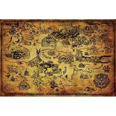 $6.95 • Buy LEGEND OF ZELDA - HYRULE MAP POSTER 24x36 - 3571 *CREASED*