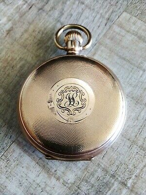 AU1295 • Buy Vintage Swiss ROLEX 1930's Full Hunter Pocket Watch  Dunklings