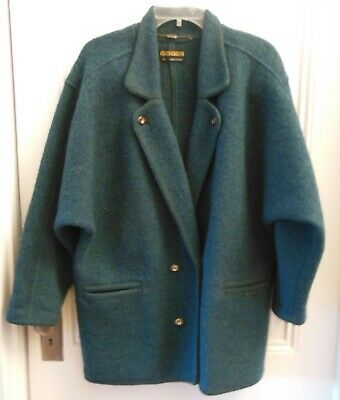 $19.99 • Buy Geiger Collections Vintage Green Wool Jacket Size 12 (42) Ex Condition