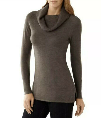 $45 • Buy Smart Wool Womens Merino Wool Brown Cowl Neck Sweater Small