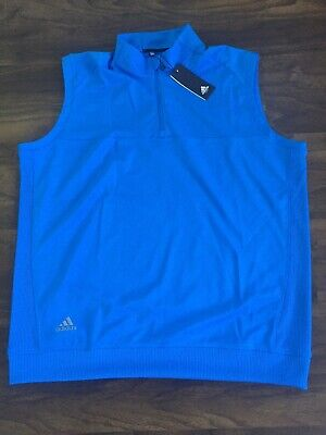 $24 • Buy Mens Size XL Adidas Cl Vest Blue Golf DN6867 New With Tags