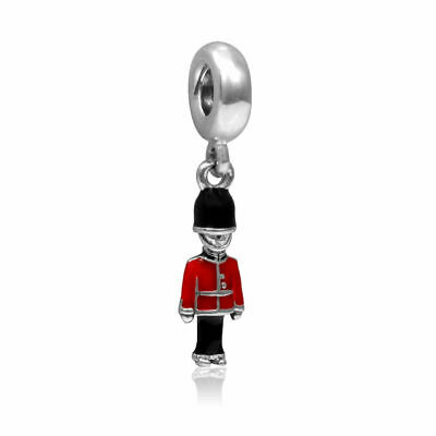 London Soldier Charm Bead Bracelet Gift Silver Guard Queens Pd Chamilla Troll UK • 3.50£