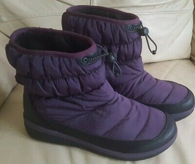 Ladies Clarks Cloud Steppers Ankle Winter Walking Boots Size Uk 6 D • 20£