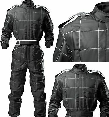 ADULT BLACK Race Suit Overall Single Layer SFI3.2A/1 Proban Oval Banger  • 78£