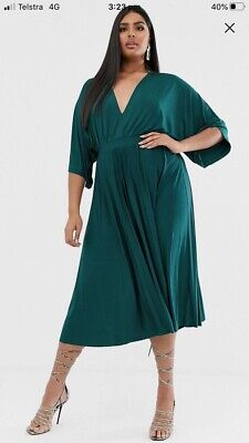 AU80 • Buy Asos Curve Green Kimono Dress Size 28