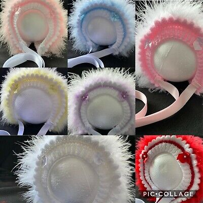 £7.10 • Buy Traditional Hand Knitted Baby Bonnets/Hat - Newborn -24mths - Various Colours