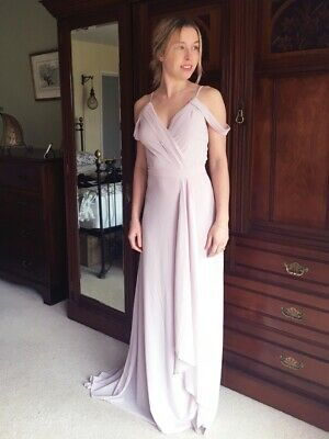 Bridesmaid/ Evening Dress. Maxi Dress With Train. Size 8. Mink • 30£