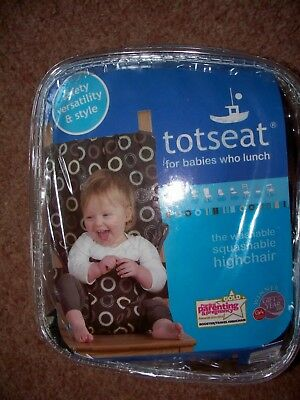 New Totseat Washable Portable Highchair Baby Toddler Seat With Harness Unused • 14.99£