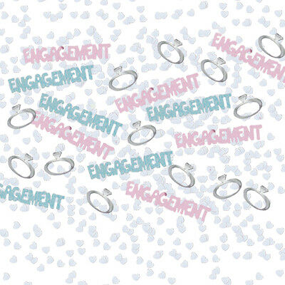 £1.39 • Buy 1 Pack Engagement Foil Confetti /table Sprinkles Pink And Blue Table Decorations