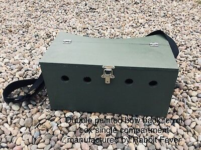 Double Bow Back Ferret Carry Box 1 Large Compartment Ferreting Rabbiting Hunting • 35£