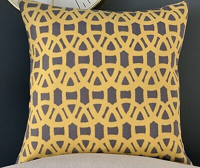 """Harlequin Scion  LACE  Cotton Yellow 16"""" CUSHION COVER • 9.99£"""