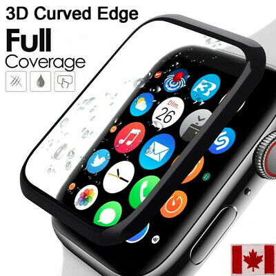 $ CDN3.99 • Buy Full Coverage Apple Watch Tempered Glass Screen Protector For Series 5/4/3/2/1