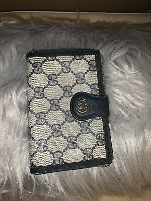$124.99 • Buy Authentic Vintage Gucci Monogram Gg French Purse Wallet With Gold Hardware