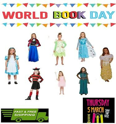 £9.99 • Buy Girls Fancy Dress Costume World Book Day Dressing Up Outfit Book Characters NEW