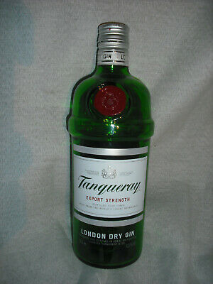 Empty Tanqueray Gin Bottle 70cl Used Project DIY Green Glass Red Seal 700ml • 3£