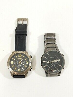 $29.99 • Buy MEN'S FOSSIL DE-5007 CHRONOGRAPH STAINLESS STEEL Plus Fossil FS4385 (Parts Only)