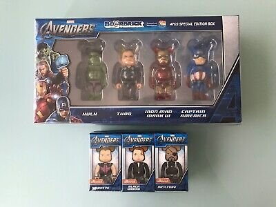 $600 • Buy Marvel's Avengers 100% Bearbrick Iron Man Thor Hulk Captain America Be@rbrick