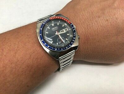 $ CDN1843.96 • Buy Seiko Pogue 6139-6030 Vintage Pepsi Insert Automatic Chronograph Mens Watch 1971