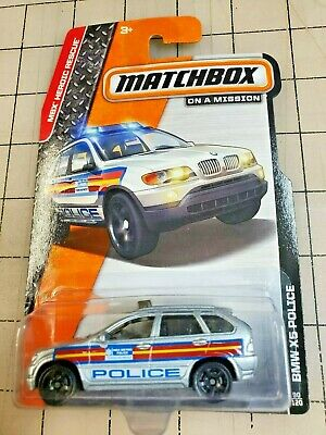 $4.69 • Buy Matchbox BMW X5 Silver Police MBX Heroic Rescue On A Mission 90/120