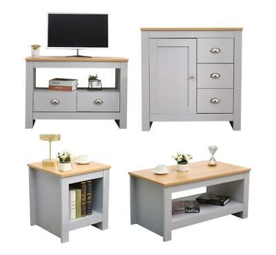 £92.19 • Buy Kingwudo Wooden Living Room Set 2/3 Piece TV Stand/Coffee/Lamp Table Storage