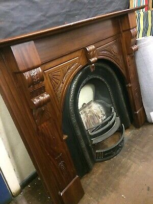 Large Victorian Style Fireplace With Slate Hearth • 250£
