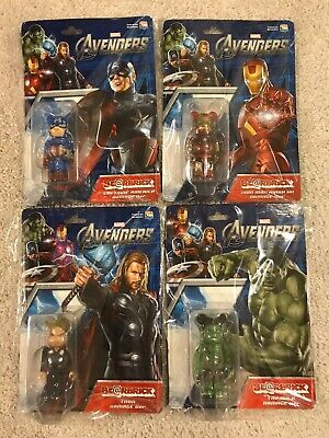 $500 • Buy Marvel's Avengers 100% Bearbrick Damage Iron Man Thor Hulk Captain America NEW