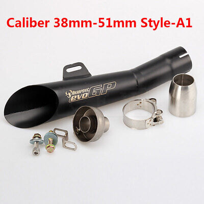 $46.99 • Buy Motorcycle Exhaust Pipe 51mm Universal For GSXR750 CBR500RR ZX6R ER6N Z750 R1 R6