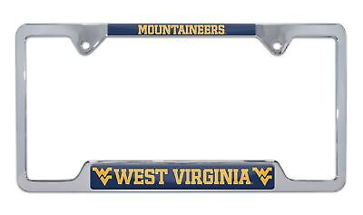 $ CDN29.98 • Buy West Virginia University Mountaineers Open Chrome License Plate Frame