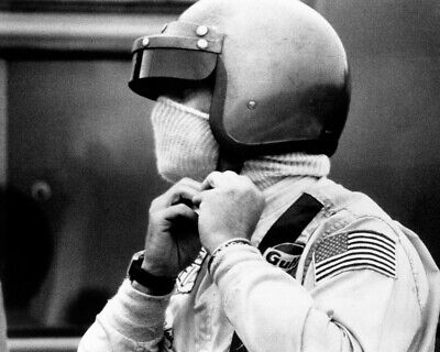 $9.75 • Buy Le Mans Steve Mcqueen Putting On Helmet Wearing Iconic Heuer Watch 8x10 Photo