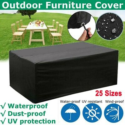 Heavy Duty Garden Patio Furniture Table Cover For Rattan Table Cube Set Outdoor • 24.59£