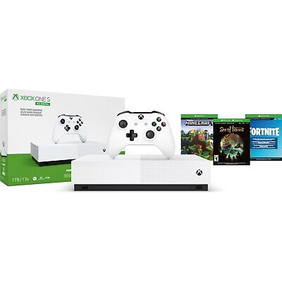 $227.99 • Buy New2020 Microsoft Xbox One S 1TB 3 Game Bundle Fortnite Minecraft Sea Of Thieves