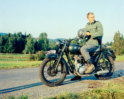 $9.75 • Buy The Great Escape Steve Mcqueen Holding Helmet On Motorcycle 8x10 Photo