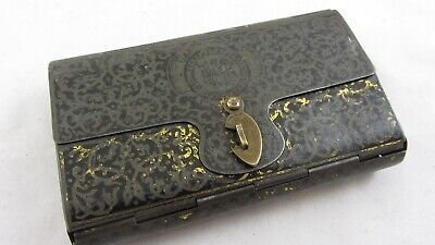 RARE Antique Bryant And May Matches Vesta Wax Tin Lithograph Box Wallet Folio • 125£