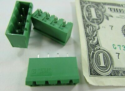$7.99 • Buy Lot Of 10 Phoenix 4-Position Combicon Connector Headers Male PCB 5.08 MM 1755752
