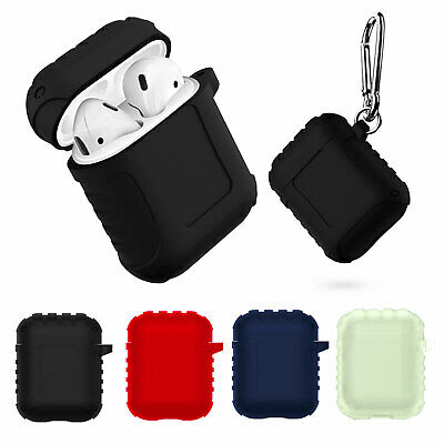$ CDN6.40 • Buy Shockproof Silicone Case Cover Protective Skin + Key Chain For Apple AirPods 1/2